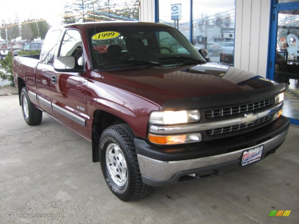 1999 dark carmine red metallic chevrolet silverado 1500 z71