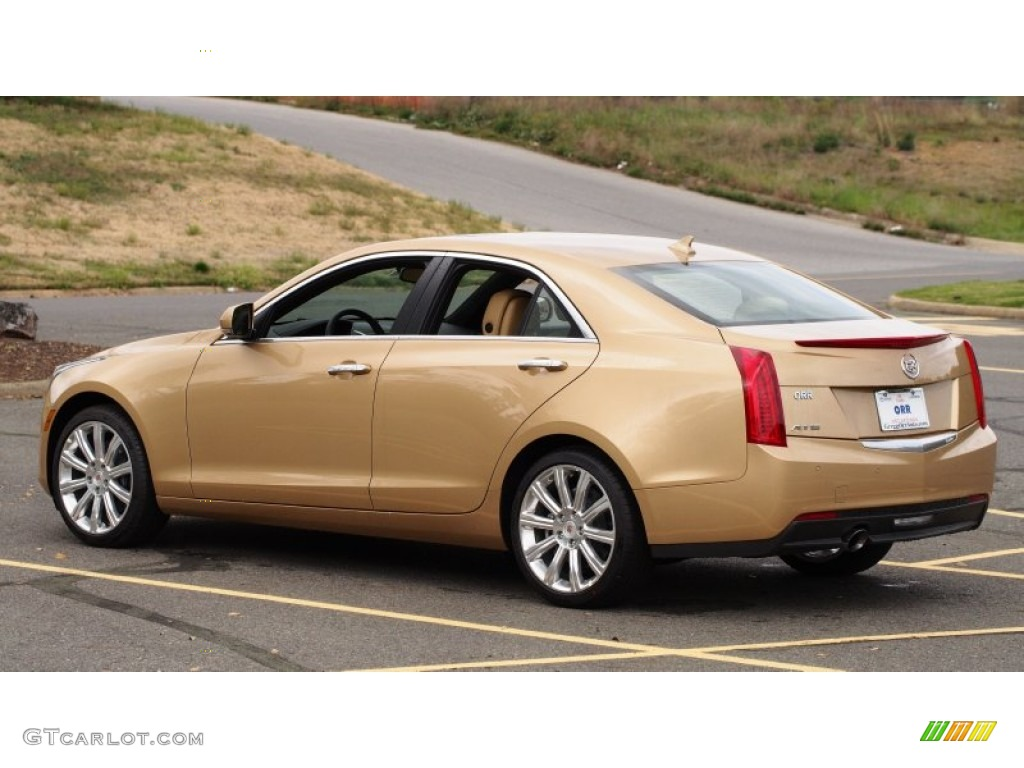 2013 Summer Gold Metallic Cadillac Ats 2 5l Luxury