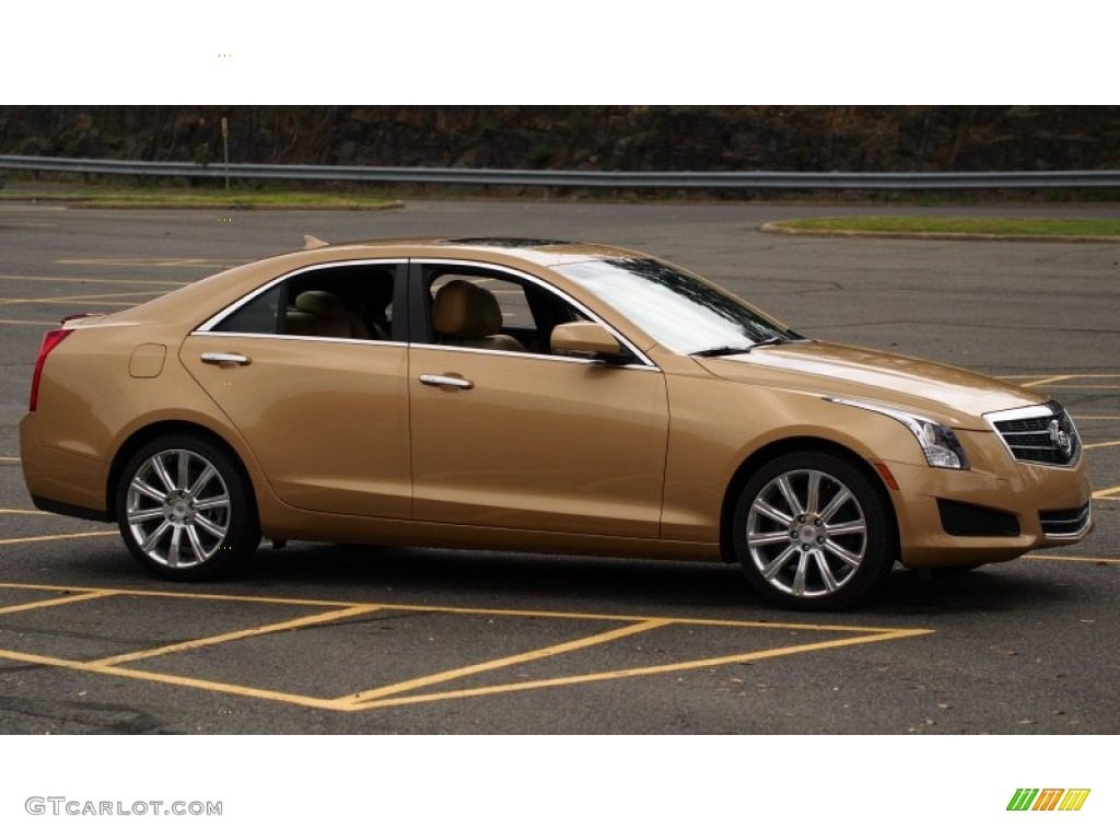 summer gold metallic 2013 cadillac ats 2 5l luxury exterior photo 79505270. Black Bedroom Furniture Sets. Home Design Ideas