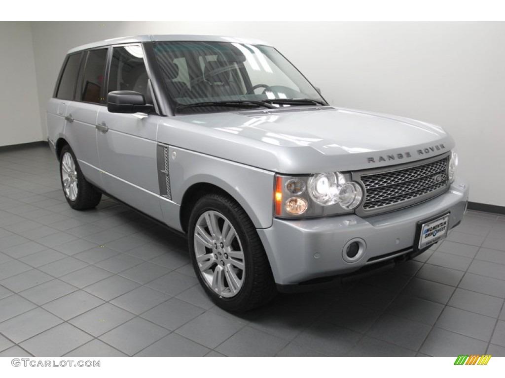 2007 Range Rover Supercharged - Zermatt Silver Metallic / Jet Black photo #1