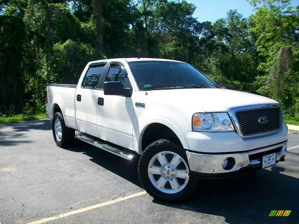 2007 f150 lariat supercrew 4x4 white sand tri coat tan photo 1