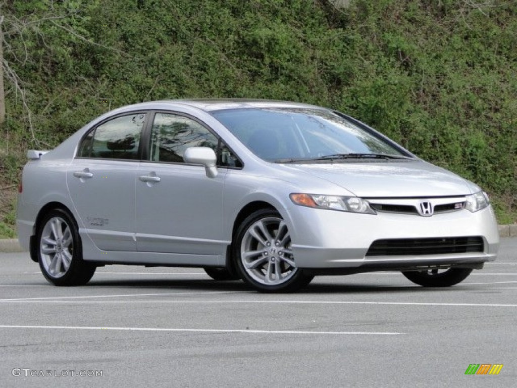 Alabaster Silver Metallic 2008 Honda Civic Si Sedan Exterior Photo 79518774 Gtcarlot Com