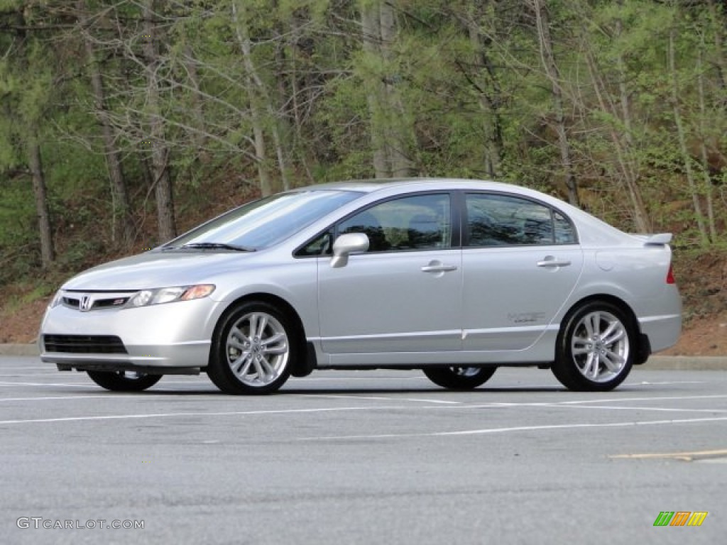 Alabaster Silver Metallic 2008 Honda Civic Si Sedan Exterior Photo 79518872 Gtcarlot Com
