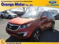 Techno Orange - Sportage EX AWD Photo No. 1