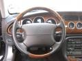 2005 Jaguar XK Charcoal Interior Steering Wheel Photo