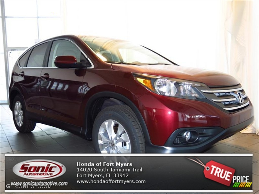 2013 CR-V EX - Basque Red Pearl II / Gray photo #1