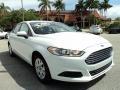 2013 Oxford White Ford Fusion S  photo #1