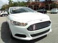 2013 Oxford White Ford Fusion S  photo #2