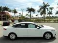2013 Oxford White Ford Fusion S  photo #5