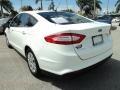 2013 Oxford White Ford Fusion S  photo #9
