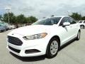 2013 Oxford White Ford Fusion S  photo #13