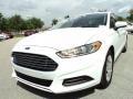 2013 Oxford White Ford Fusion S  photo #14