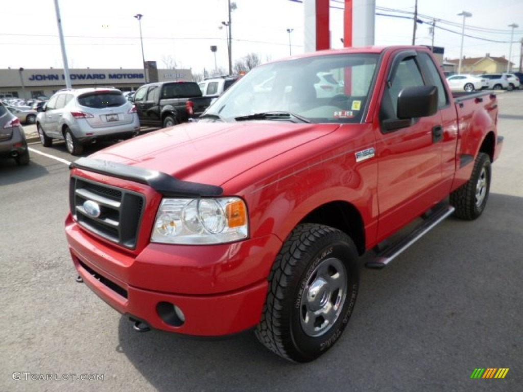 bright red 2007 ford f150 stx regular cab 4x4 exterior photo 79566928. Black Bedroom Furniture Sets. Home Design Ideas