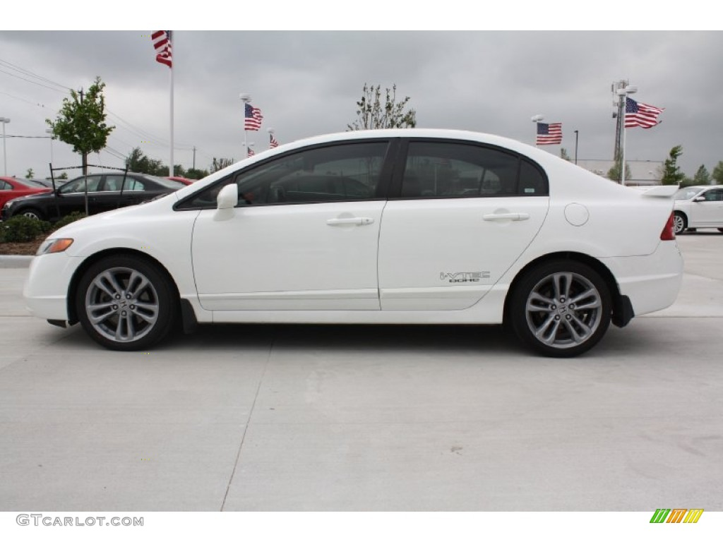 taffeta white 2008 honda civic si sedan exterior photo 79578232