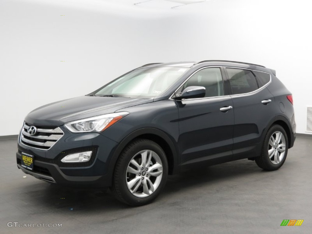 marlin blue 2013 hyundai santa fe sport 2 0t exterior. Black Bedroom Furniture Sets. Home Design Ideas