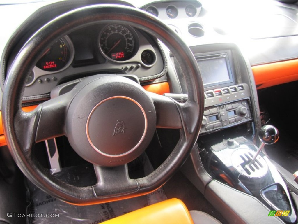 2004 Lamborghini Gallardo Coupe Orange/Black Steering ...