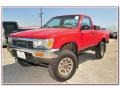 Cardinal Red 1991 Toyota Pickup Regular Cab 4x4