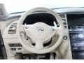 2009 Infiniti FX Wheat Interior Steering Wheel Photo