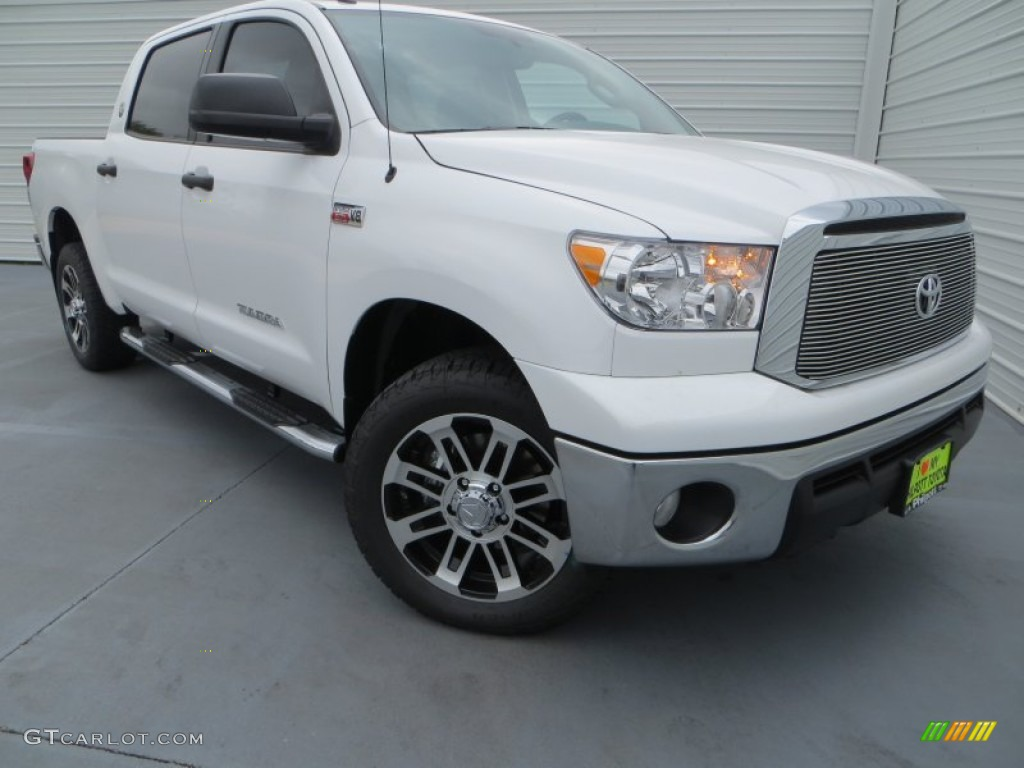 2013 Tundra Texas Edition CrewMax 4x4 - Super White / Graphite photo #1