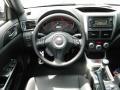 2013 Subaru Impreza STi Carbon Black Leather Interior Steering Wheel Photo