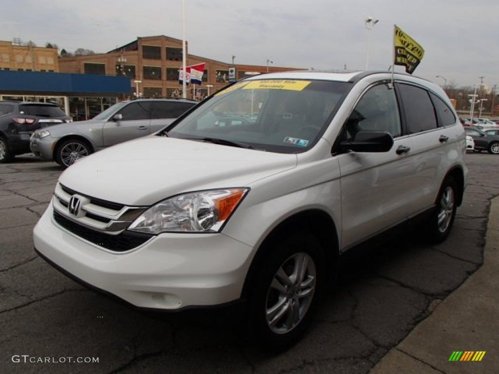 2011 CR-V EX 4WD - Taffeta White / Gray photo #4