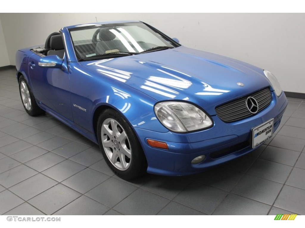 2001 sapphire blue metallic mercedes benz slk 230 for Mercedes benz slk 230