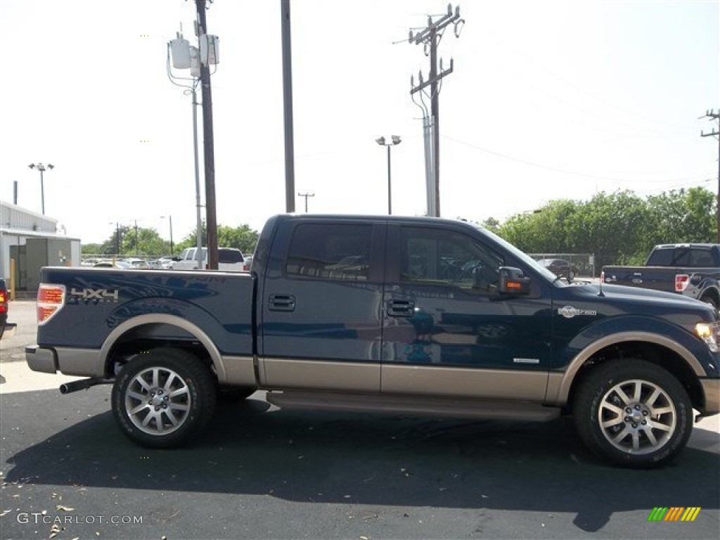 2013 blue jeans metallic ford f150 king ranch supercrew 4x4 79627821 photo 15. Black Bedroom Furniture Sets. Home Design Ideas