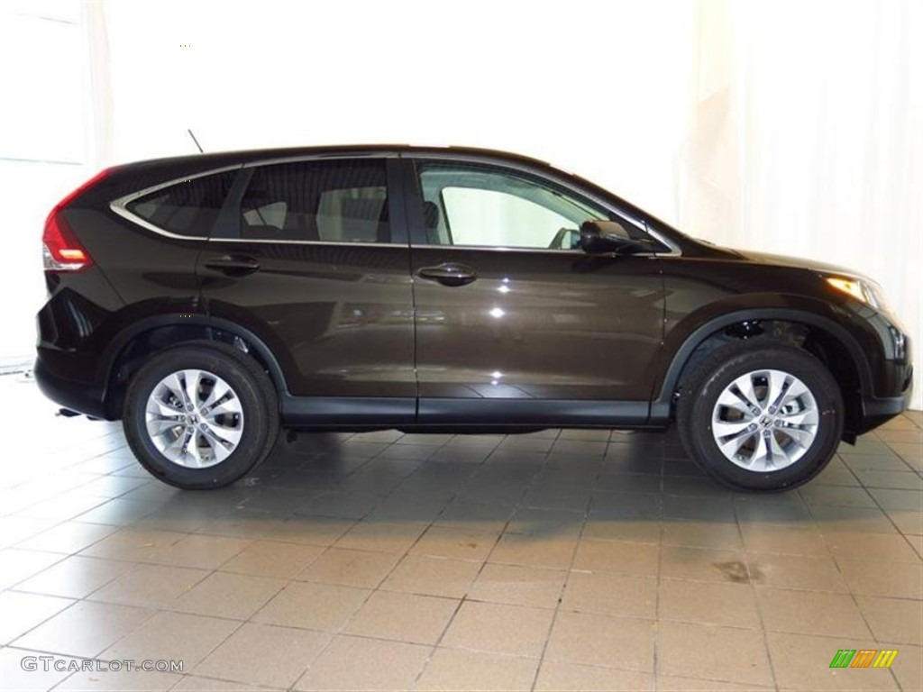 2013 CR-V EX AWD - Kona Coffee Metallic / Black photo #2