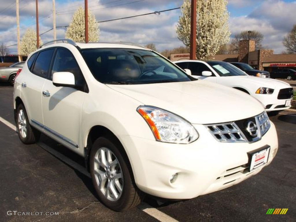 Pearl White 2012 Nissan Rogue Sl Awd Exterior Photo 79722137
