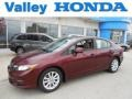 Crimson Pearl 2012 Honda Civic EX-L Sedan