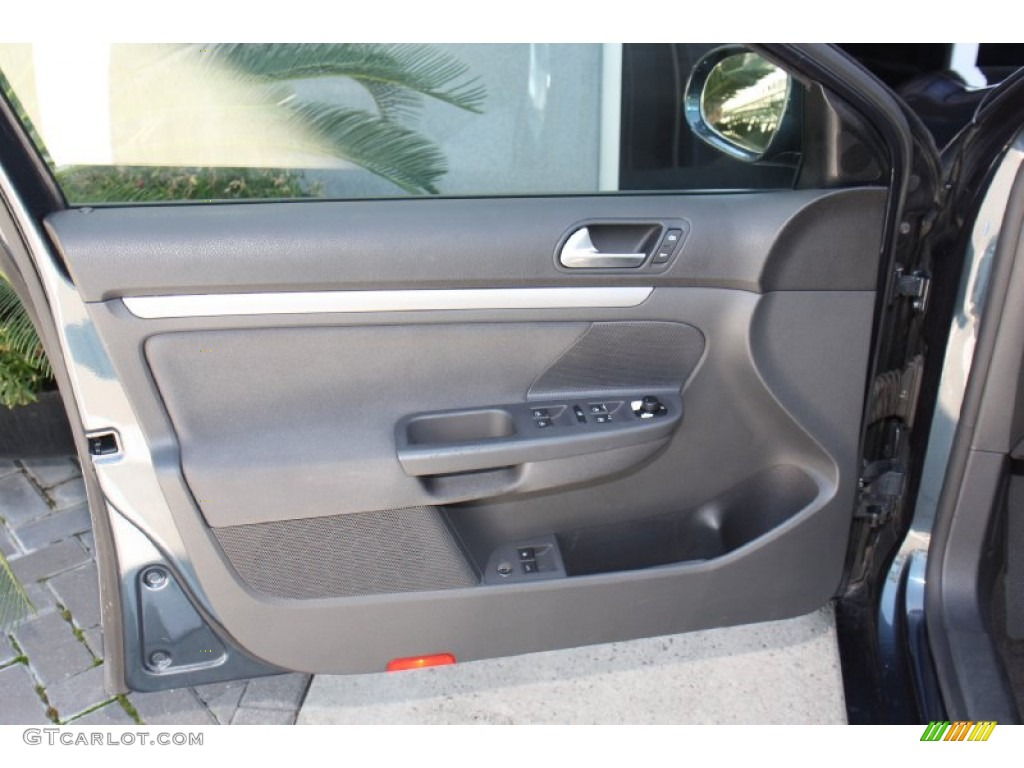 2006 Volkswagen Jetta Value Edition Sedan Anthracite Black Door Panel Photo 79747893