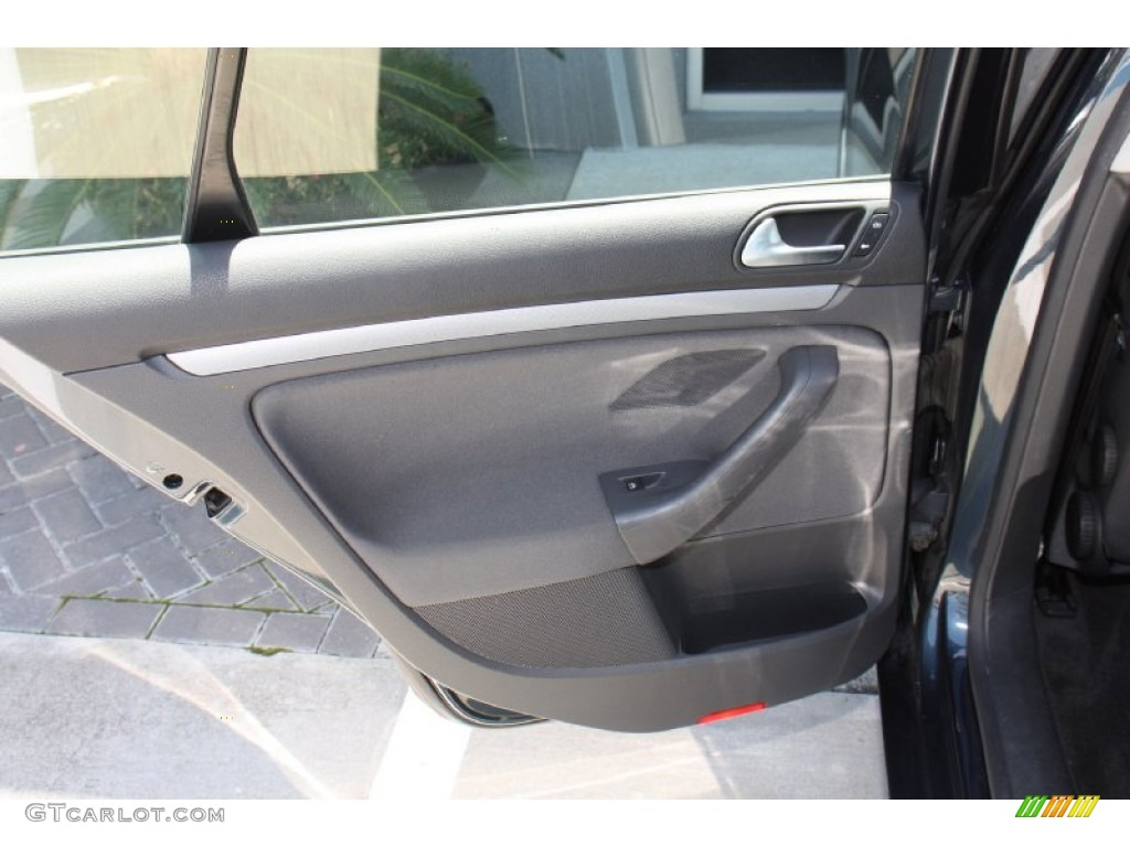 2006 Volkswagen Jetta Value Edition Sedan Anthracite Black Door Panel Photo 79747940