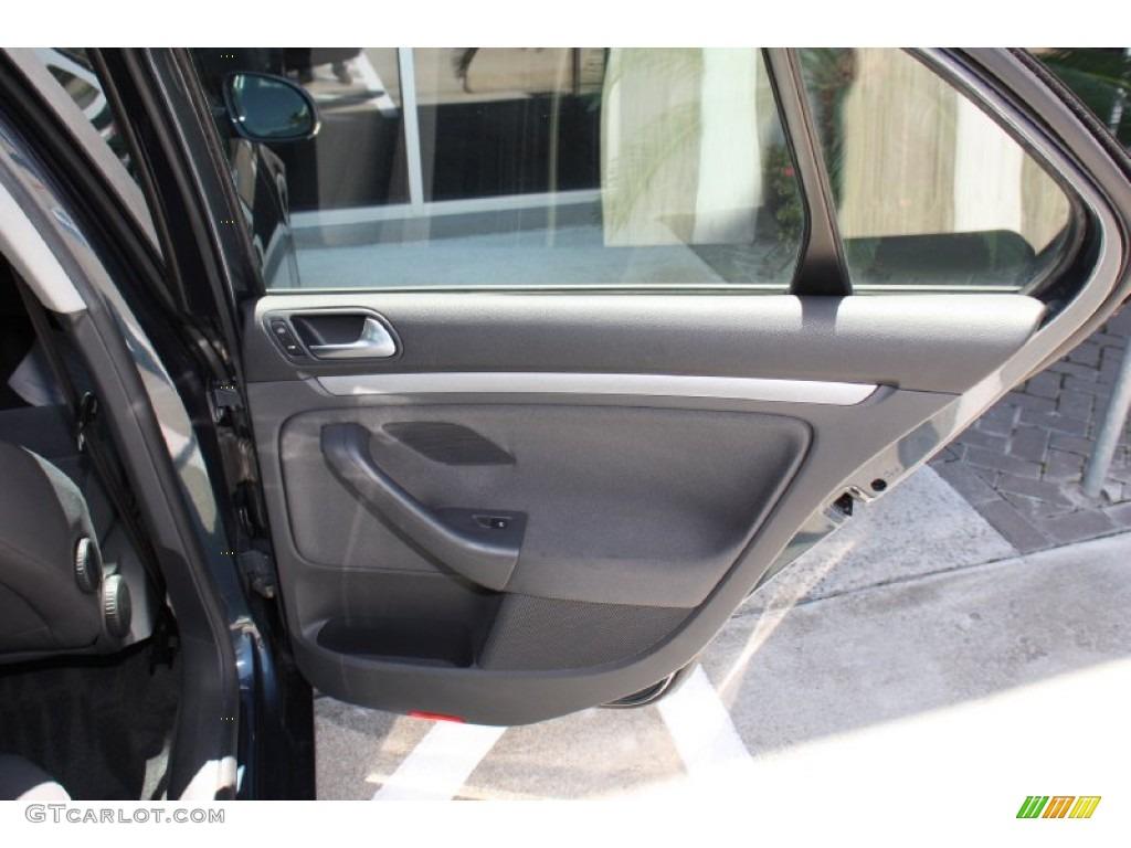 2006 Volkswagen Jetta Value Edition Sedan Anthracite Black Door Panel Photo 79747987