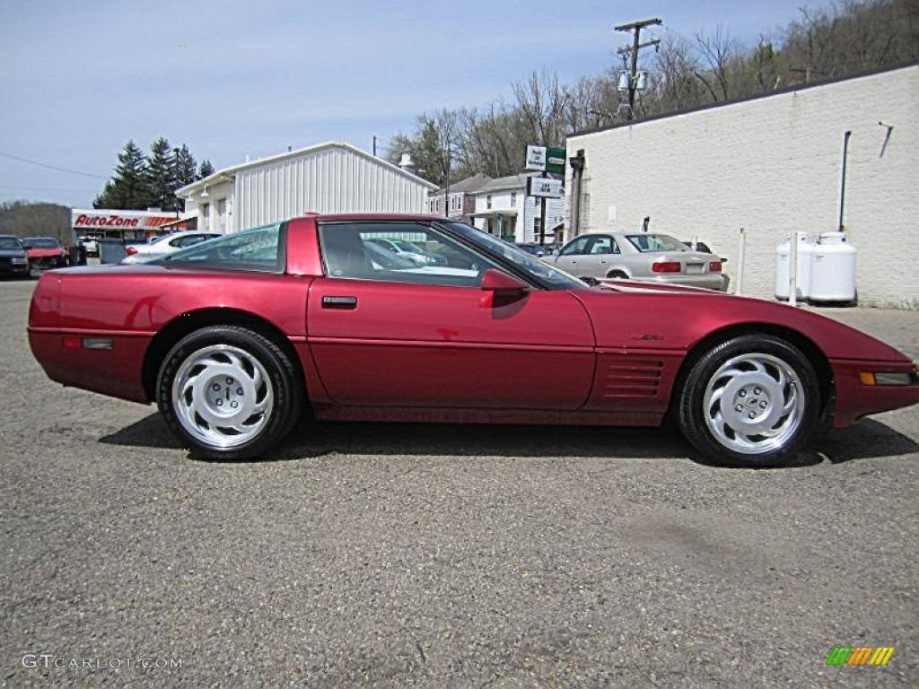 1991 Dark Red Metallic Chevrolet Corvette ZR1 #79713504