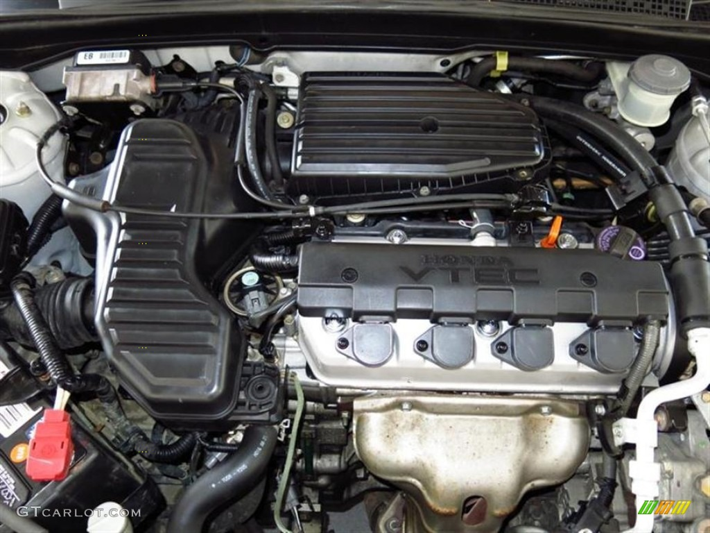 Exceptional 2002 Honda Civic EX Coupe 1.7 Liter SOHC 16 Valve 4 Cylinder Engine Photo #