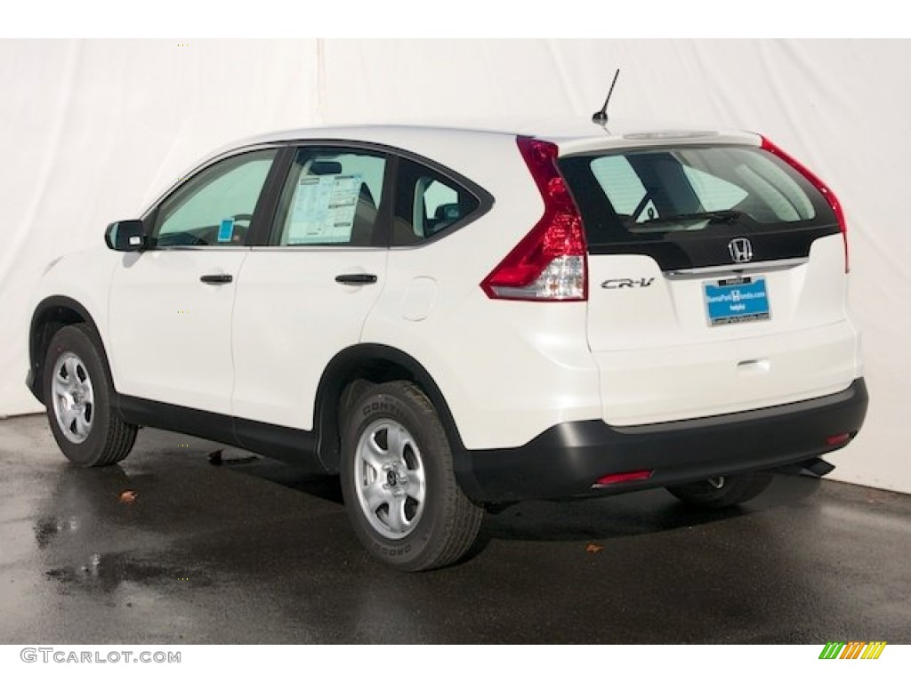 2013 CR-V LX - White Diamond Pearl / Gray photo #5