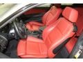 2011 BMW 1 Series Coral Red Interior Front Seat Photo