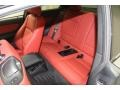 2011 BMW 1 Series Coral Red Interior Rear Seat Photo