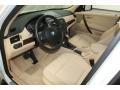 2009 BMW X3 Sand Beige Interior Prime Interior Photo