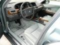 Basalt Grey/Stone Green 2004 BMW 7 Series 745i Sedan Interior