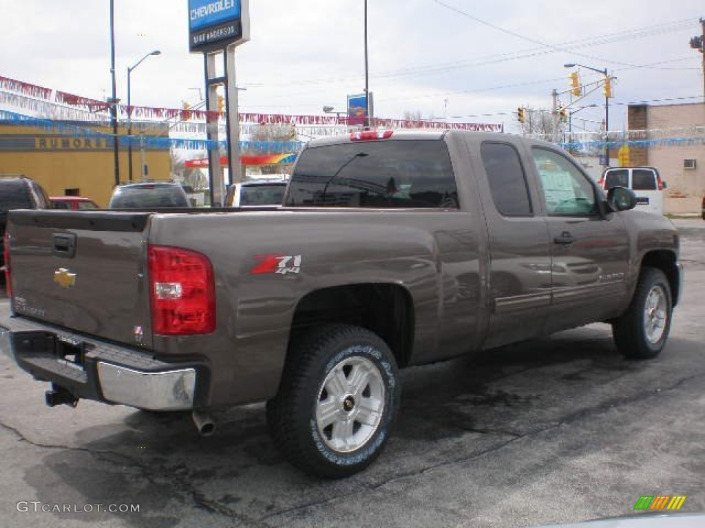 2013 Silverado 1500 LT Extended Cab 4x4 - Mocha Steel Metallic / Ebony photo #9