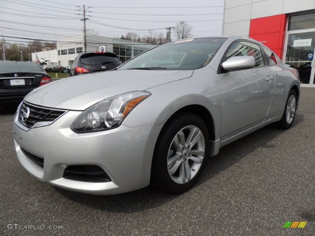 2012 brilliant silver nissan altima 2 5 s coupe 79814518 car color galleries. Black Bedroom Furniture Sets. Home Design Ideas