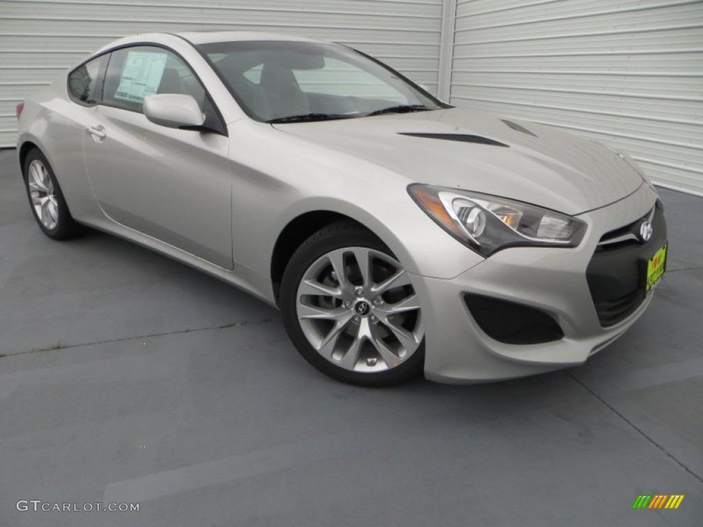 2013 Genesis Coupe 2.0T Premium - Platinum Metallic / Gray Leather/Gray Cloth photo #1
