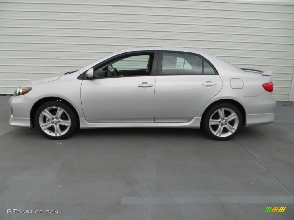 classic silver metallic 2013 toyota corolla s exterior. Black Bedroom Furniture Sets. Home Design Ideas