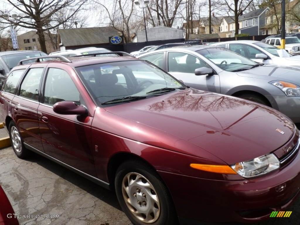 Dark Red 2001 Saturn L Series LW200 Wagon Exterior Photo #79847656