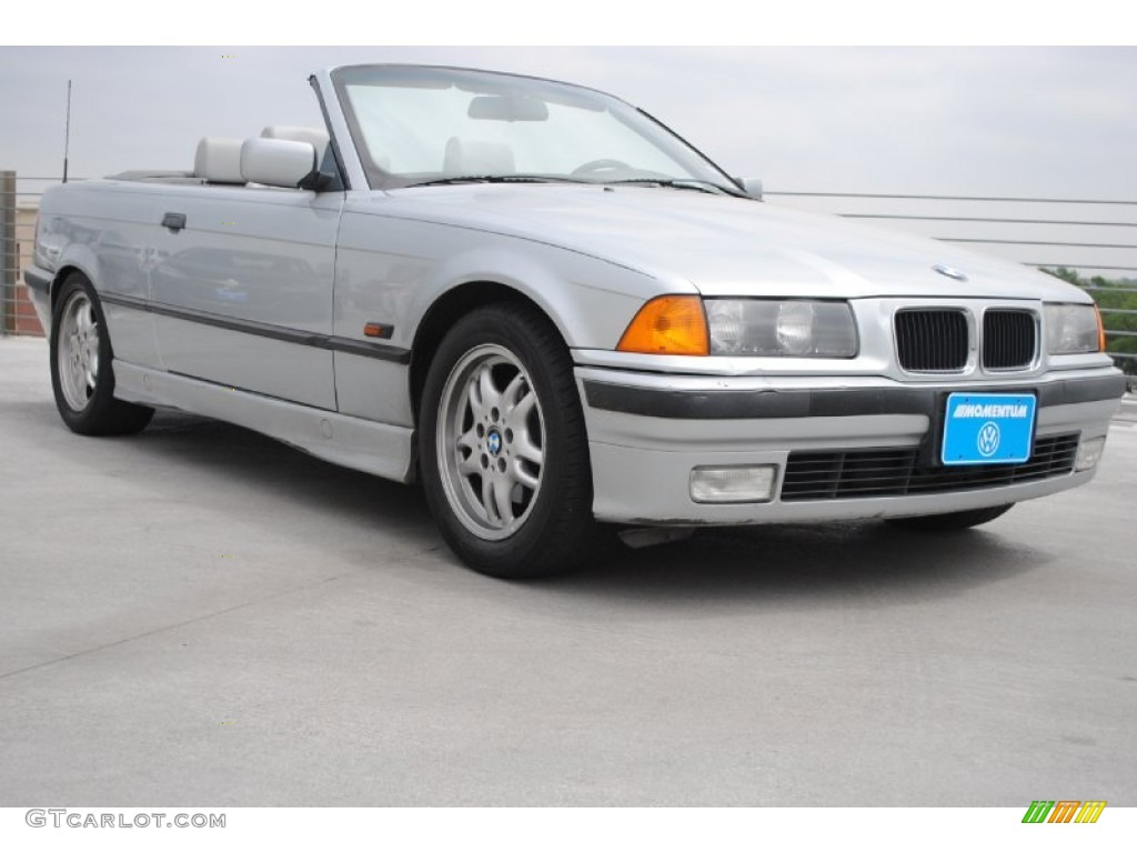 1996 arctic silver metallic bmw 3 series 328i convertible. Black Bedroom Furniture Sets. Home Design Ideas