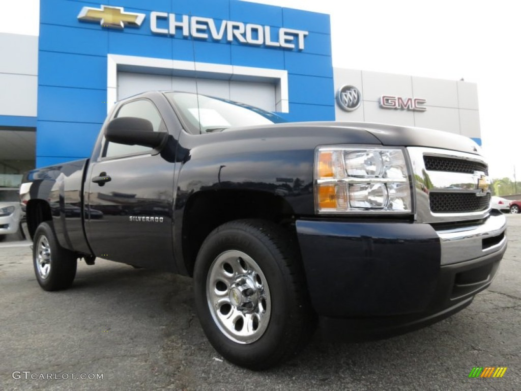 2011 Silverado 1500 LS Regular Cab - Imperial Blue Metallic / Dark Titanium photo #1