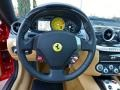 2009 Ferrari 599 GTB Fiorano Beige Interior Steering Wheel Photo