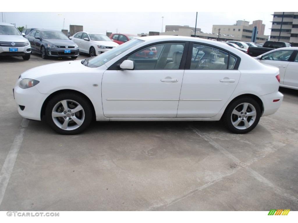 mazda 3 2005 white. 2005 mazda3 i sedan rally white beige photo 4 mazda 3 t