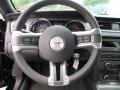 2014 Ford Mustang Charcoal Black/Cashmere Accent Interior Steering Wheel Photo